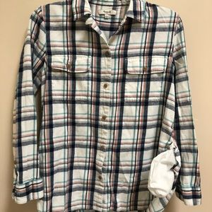 Madewell plaid flannel button up w/ side pockets S
